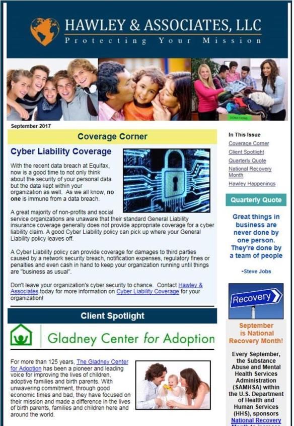 hawley associates 3rd qtr newsletter happy fall y all
