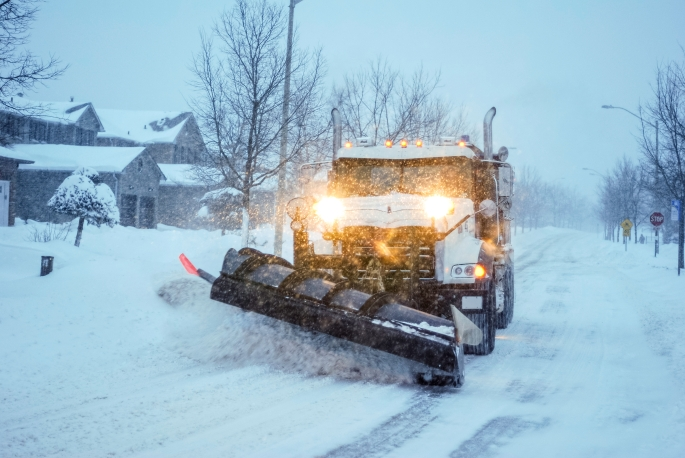 snow plough truck